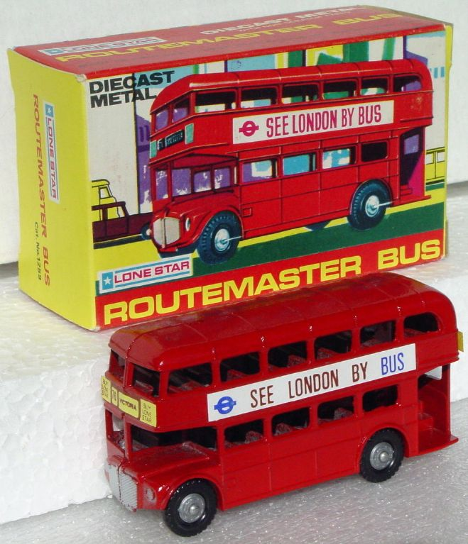 43 - LONE STAR Routemaster Bus Red See LondonbyBus