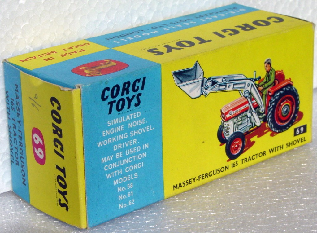 Corgi 69 - Massey Ferguson 165 Tractor BOX ONLY!