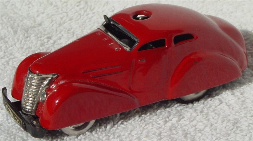 Schuco 3000 - Red Fernlenk-Auto Red Germany C8.5 slide