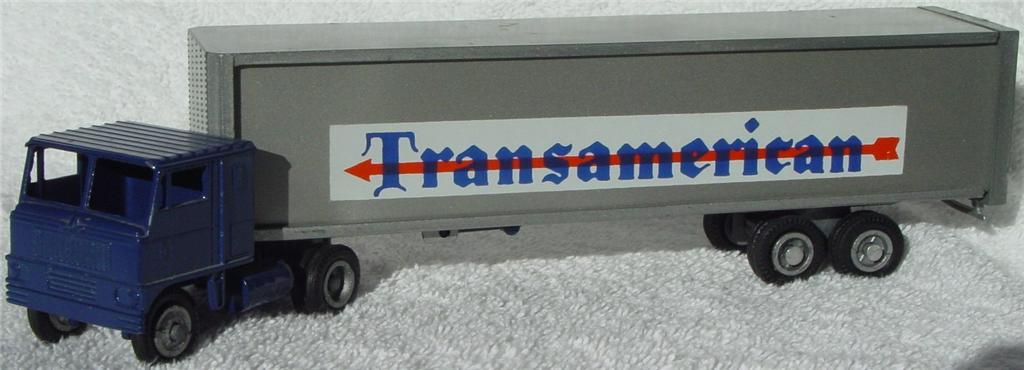 Winross - White 7000 Transamerican Blue and met Grey 1970