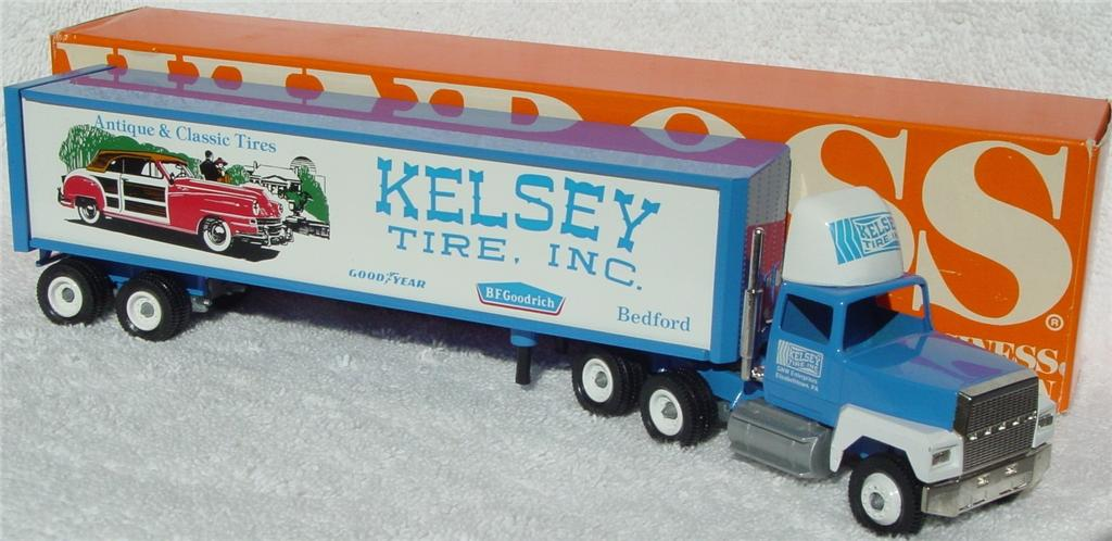 Winross - Ford CL9000 Kelsey Tire BF Goodrich Blue 1990