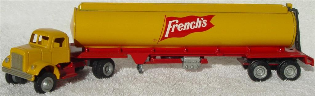 Winross - White 9000 Frenches Tanker yellow and Red 1976