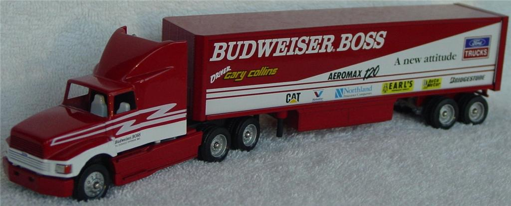 Winross - Ford Aeromax Budweiser Boss Red and White Harrisburg