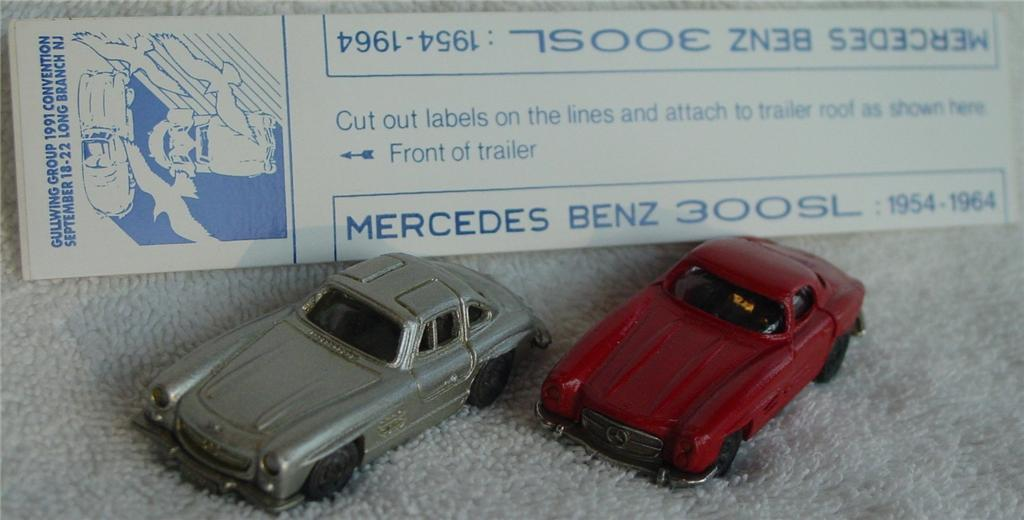 Winross - Ford Aero Mercedes Gullwing Club dark Blue with 2 cars