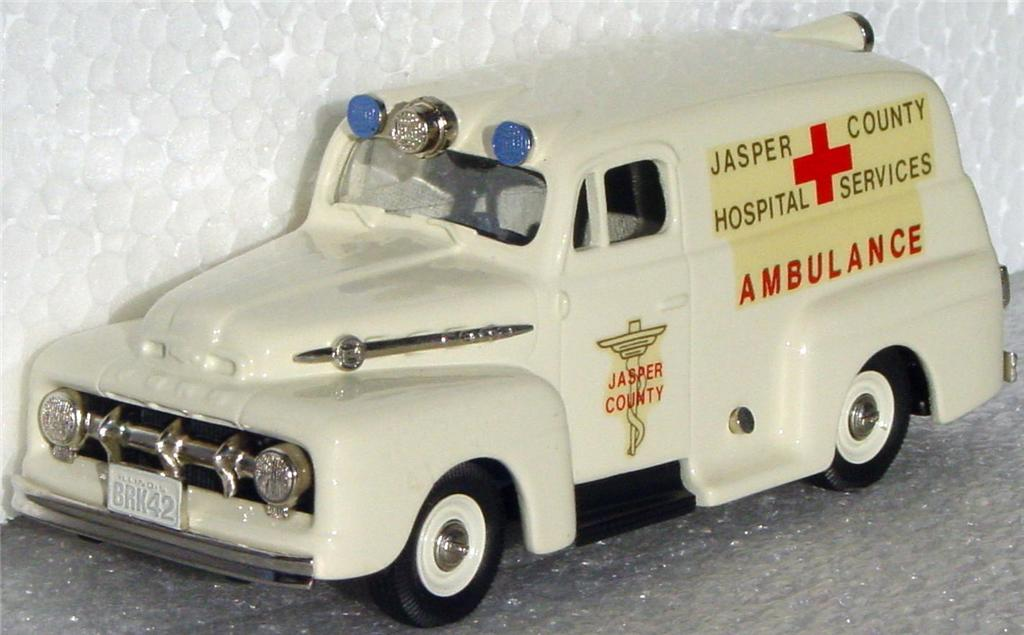 Brooklin 42 - 1952 Ford Ambulance White Jasper County