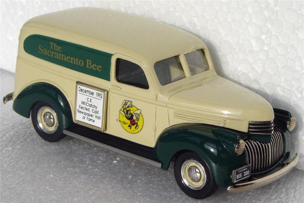 Durham Classics 41 - 41 Chevy Del light Tan/Green Sacramento Bee 1/200