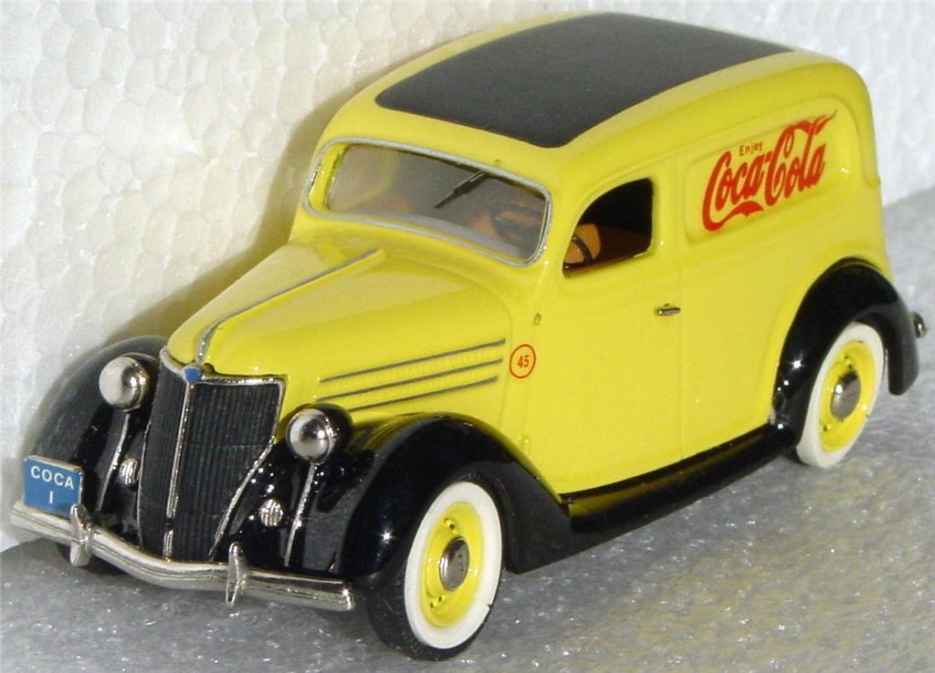 Mini Marque 43 6 - 1936 Ford Sedan Del Yellow Coke 45