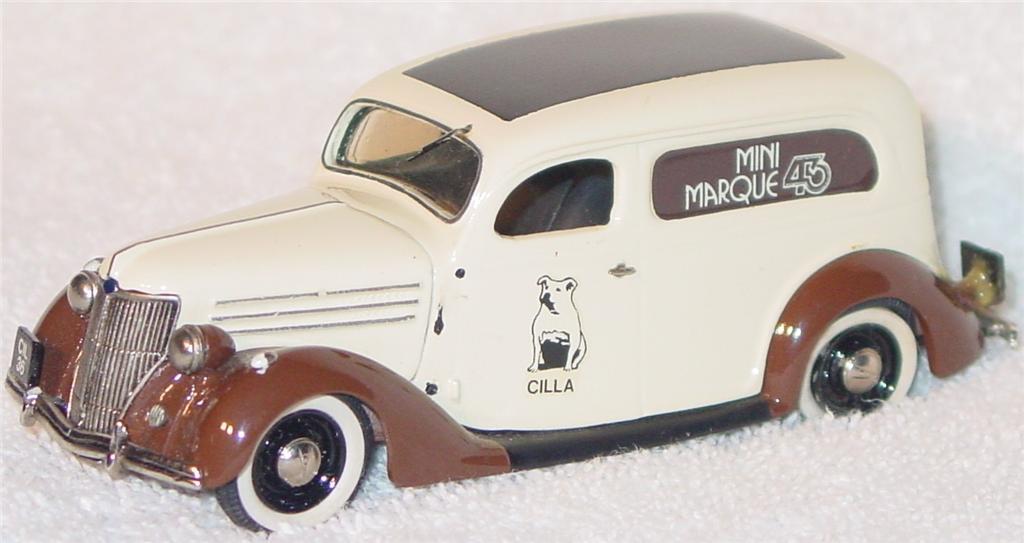 Mini Marque 43 6 - 1936 Ford Del White and Brown MiniMarque43 1/10 -drhan