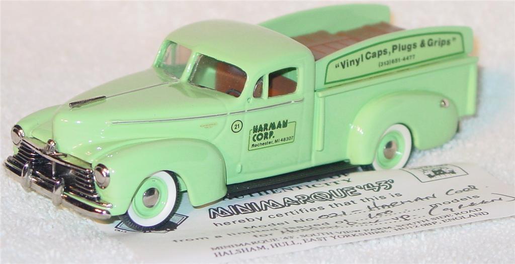 Mini Marque 43 9 A - 1946 Hudson Truck light Green Harmon Corp