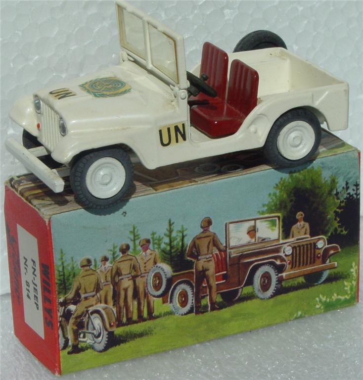 Tekno 814 - Willys UN Jeep White