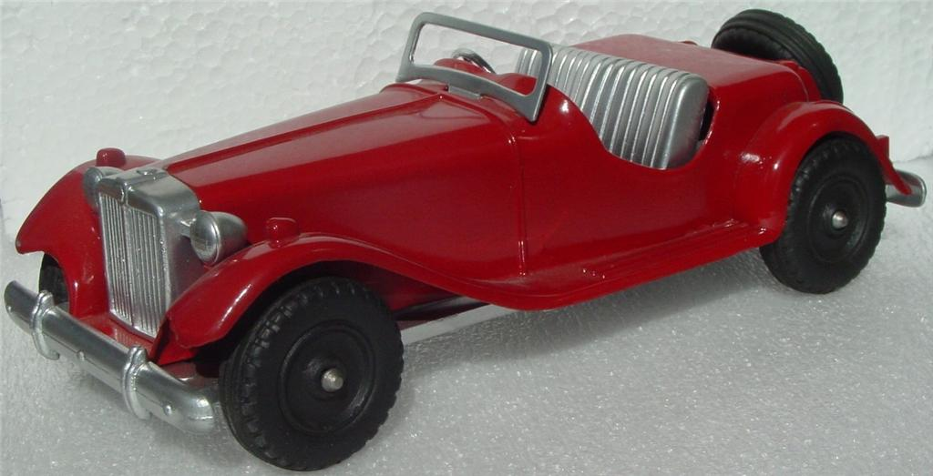 24 - HUBLEY 485 Kiddie Toy MG Sports Car Red Repaint