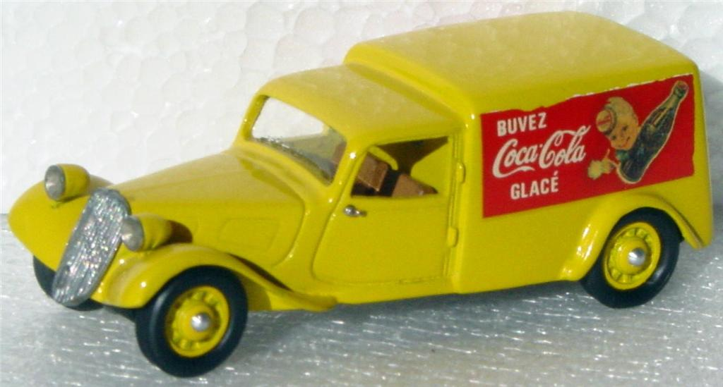 White Metal 43 - AUTOHOBBY Citroen 11B 38 Yellow Coke no bottle