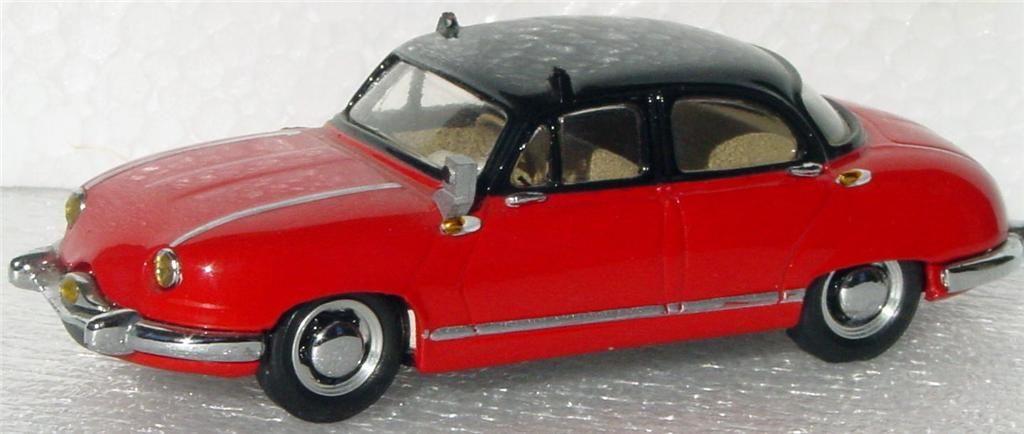 White Metal 43 - CCC Panhard Dyna Z Taxi Red and black