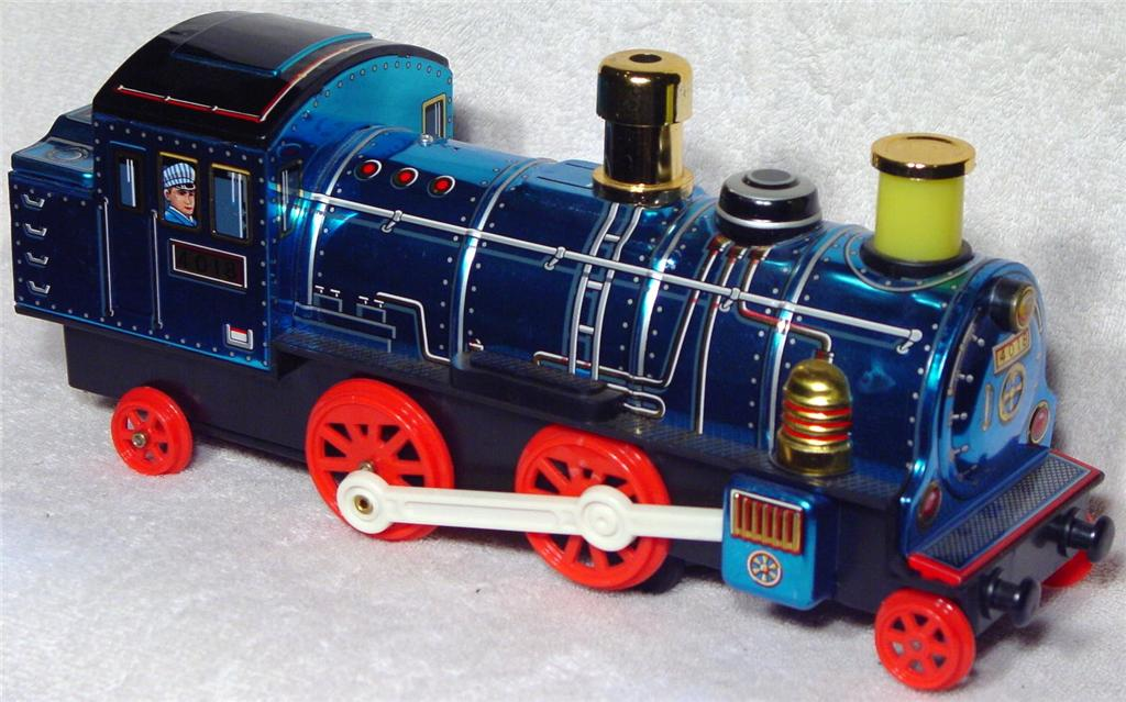 Battery Operated - MODERN TOYS Continental Blue Locomotive Masudaya