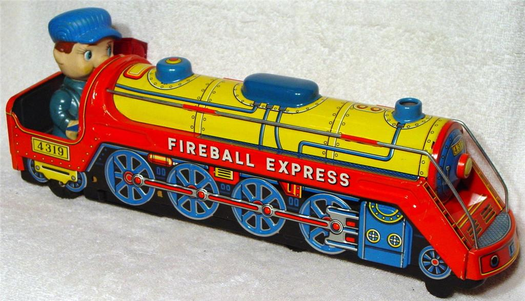 Battery Operated - MODERN TOYS Fireball Express Masudaya Japan