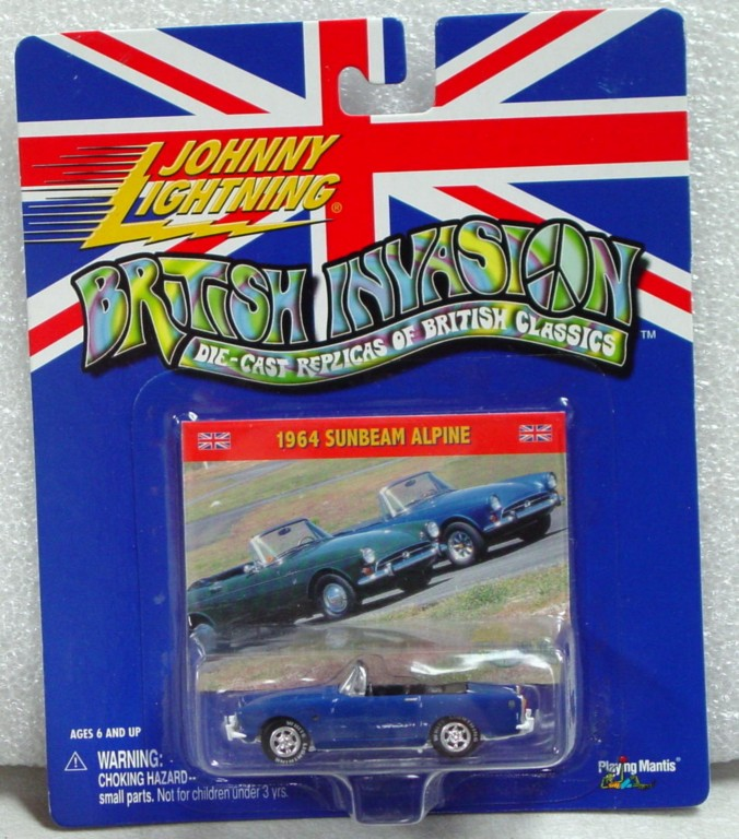 White Lightning - White Lightning British Invasion 1964 Sunbeam Alpine Blue