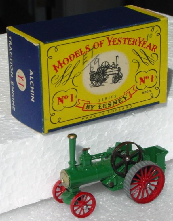 Models of YesterYears 01 A - Allchin gold boil dark brown flywheel three slight chips C9 C box