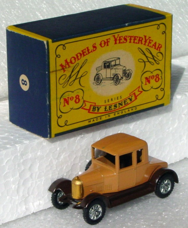 Models of YesterYears 08 A - Morris Cowley 1 chip Unp wheels C9.5 A2 box