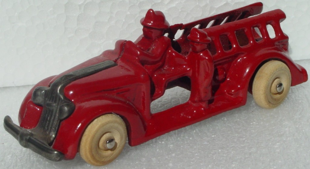 43 - UNKNOWN Fire truck Iron? A Co. F S Red repaint?