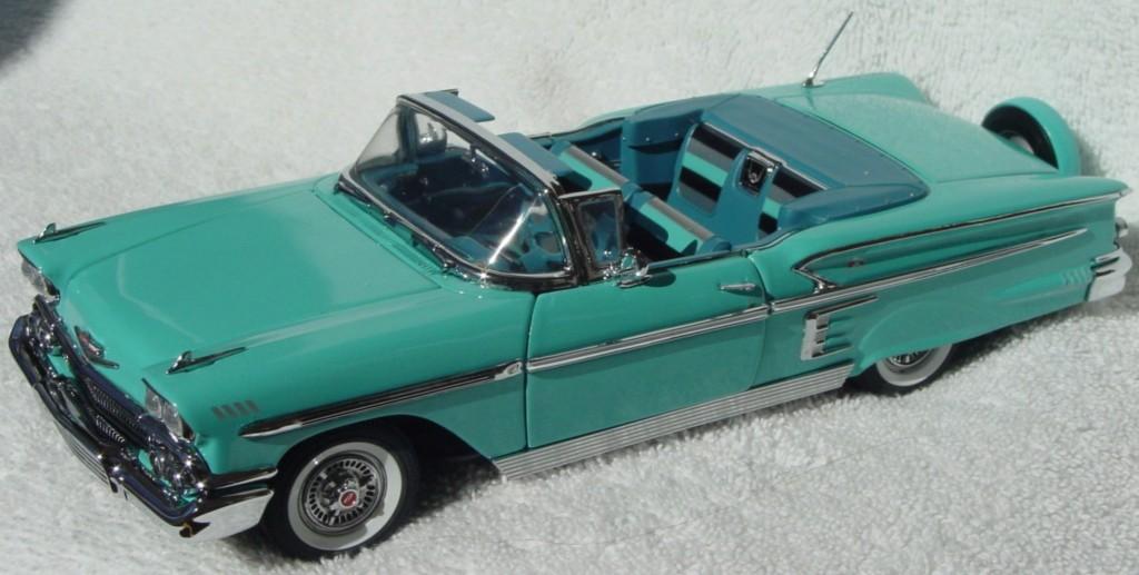 24 - DANBURY 58 Chevy Impala Conv Aqua (92)