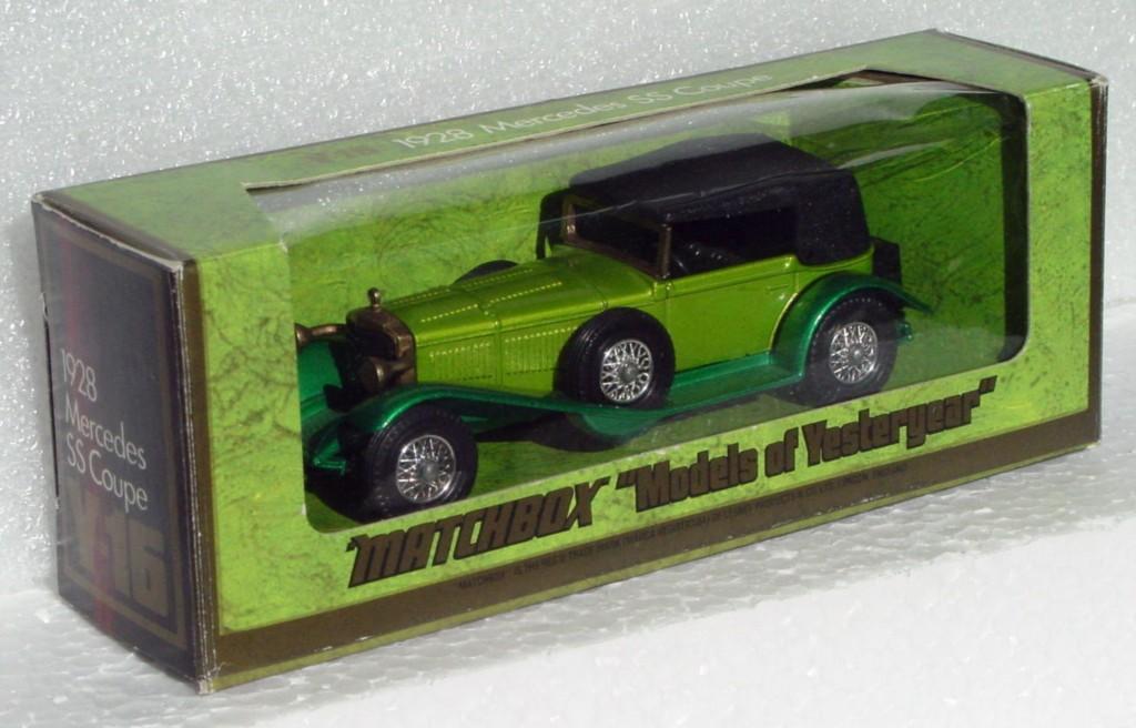 Models of YesterYears 16 B 2 - 1928 Mercedes SS GREEN/DK GREEN