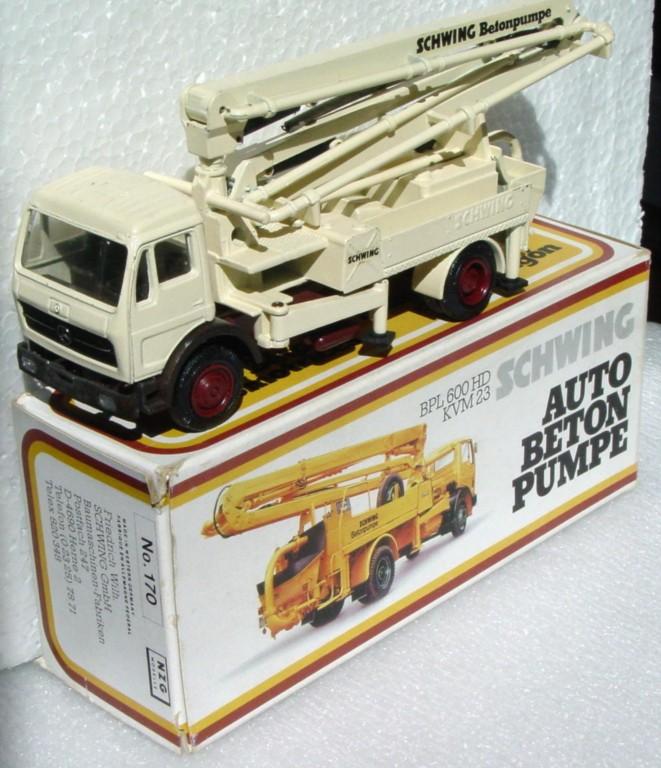50 - NZG 170 Schwing truck-mounted Concrete pump 1:50