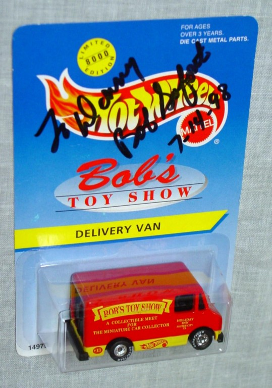 Blackwalls 14975 E - Delivery Truck Red Bobs Toy Show Autographed