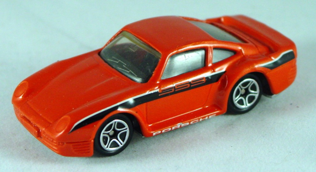 Pre-production 07 F - Porsche 959 Orange sil-grey base made in Thailand rivet glue DECALS
