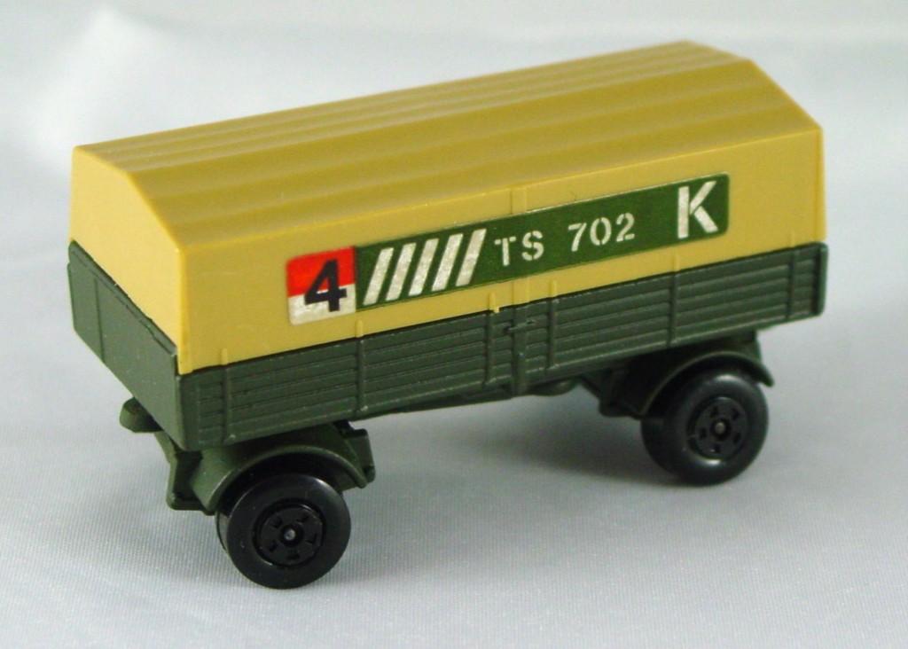 Lesney SuperFast 02 A 9 - Merc Trailer Olive Drab 4TS 702K 5-spoke