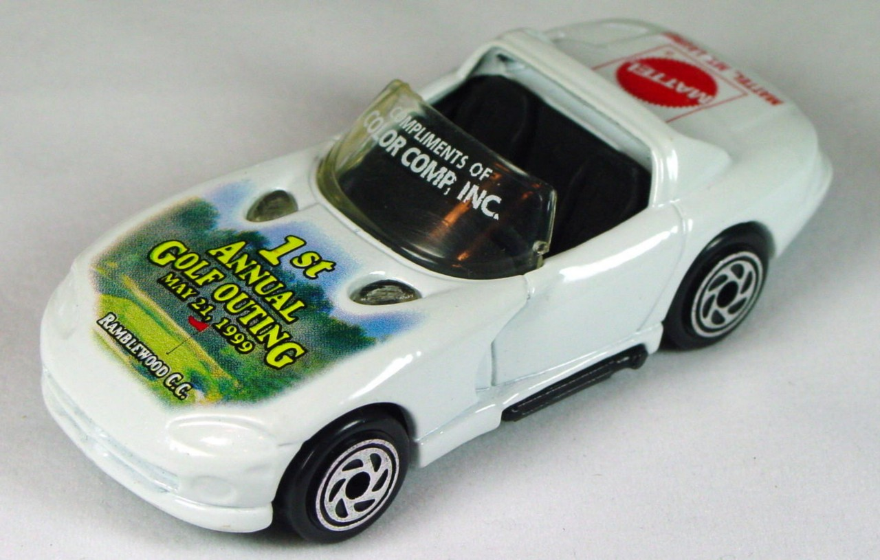 ASAP-CCI 10 F 44 - Dodge Viper White 1st Golf Outing Mattel made in Thailand CCI
