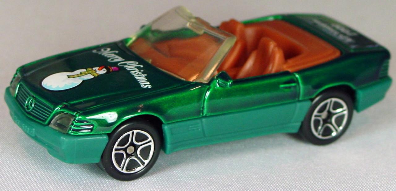 ASAP-CCI 12 H 16 - Merc 500SL bright Green Merry Xmas AD ventures 1999 CCI