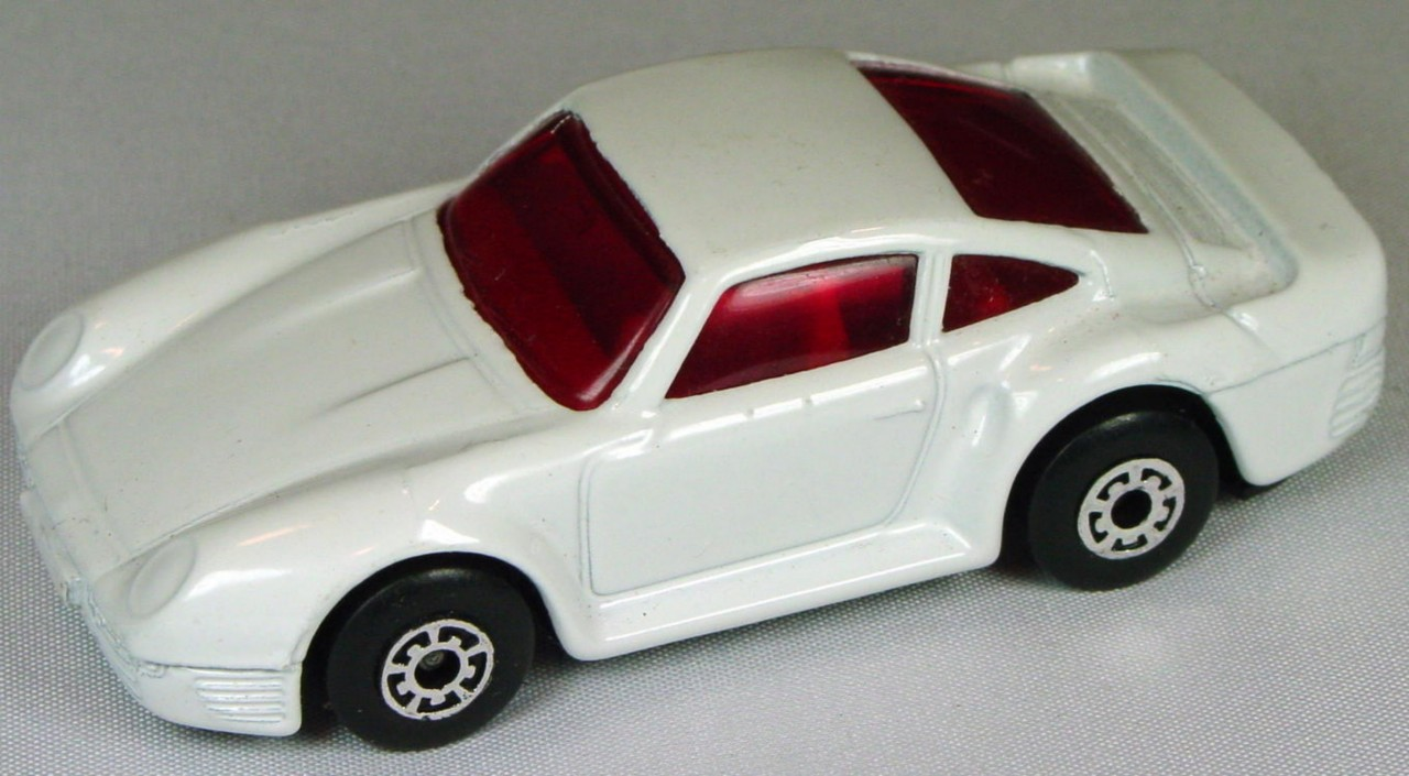 Pre-production 07 F - Porsche 959 White red window 5A no tampo made in Thailand
