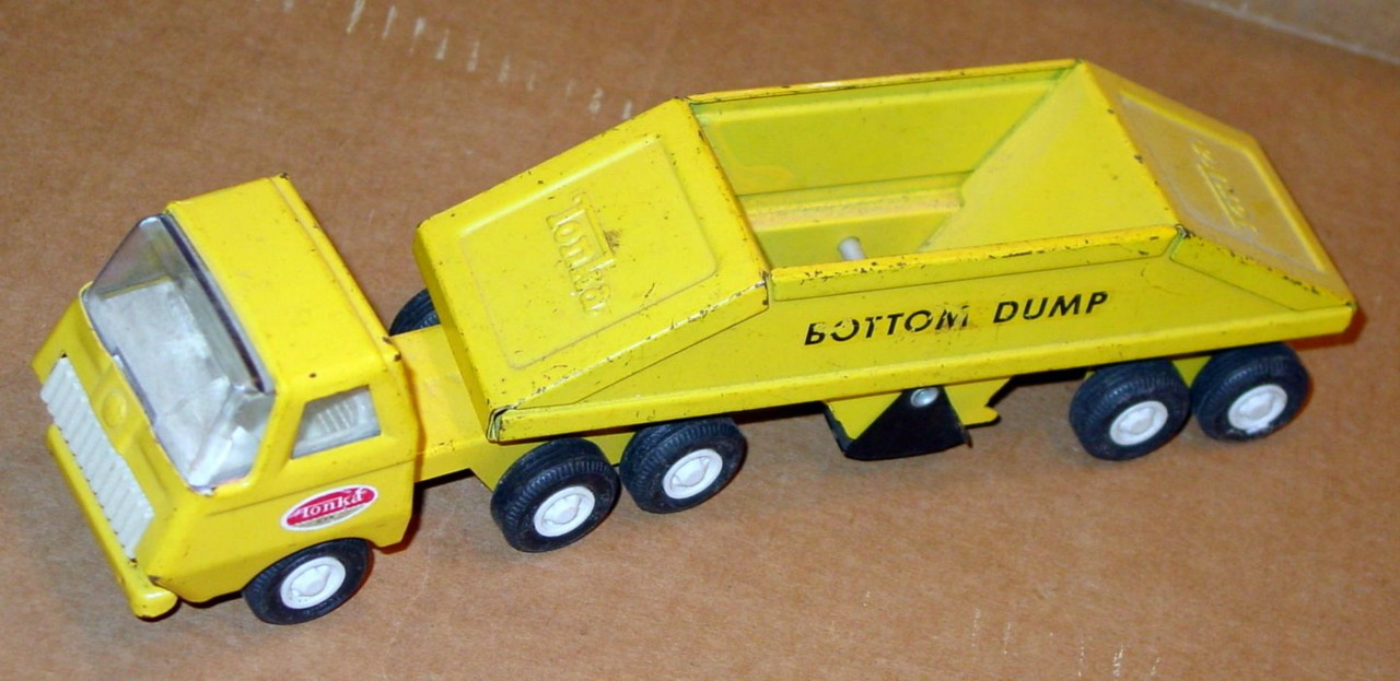 TONKA Bottom Dumper yellow and Yellow