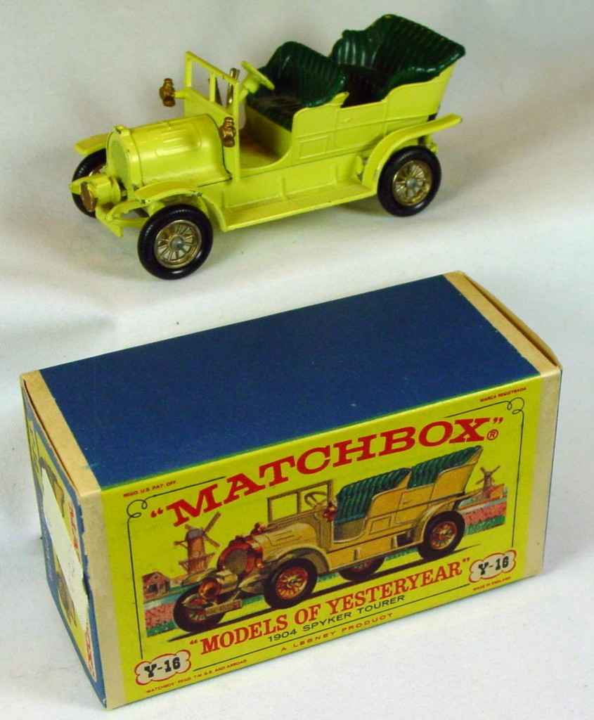 Models of YesterYears 16 A 4 - Spyker pale yellow C9.5+ D3 box original price sticker