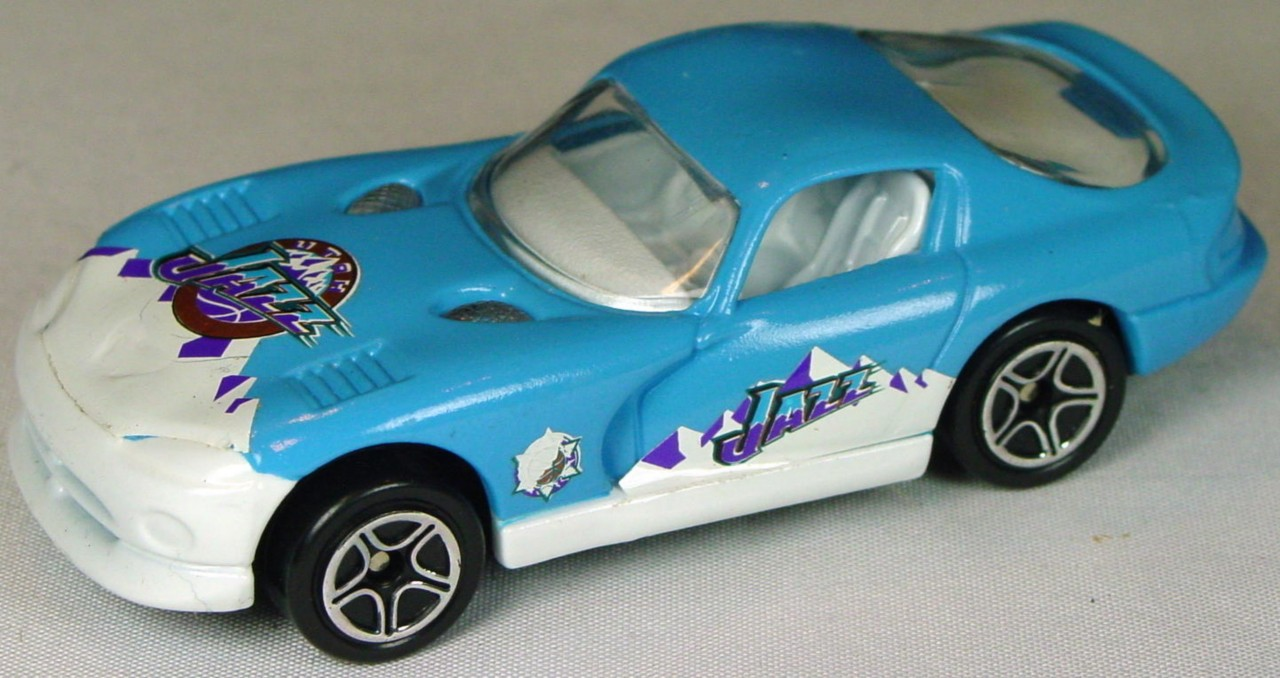 Pre-production 01 G 12 - Dodge Viper GTS powder Blue Utah Jazz STICKERS made in China