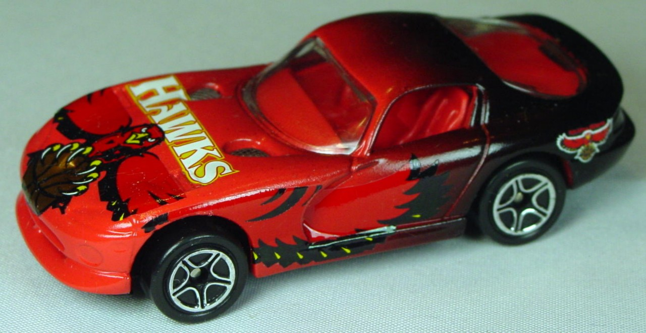 Pre-production 01 G 17 - Dodge Viper Orange and black org-red interior Atlanta Hawks made in China