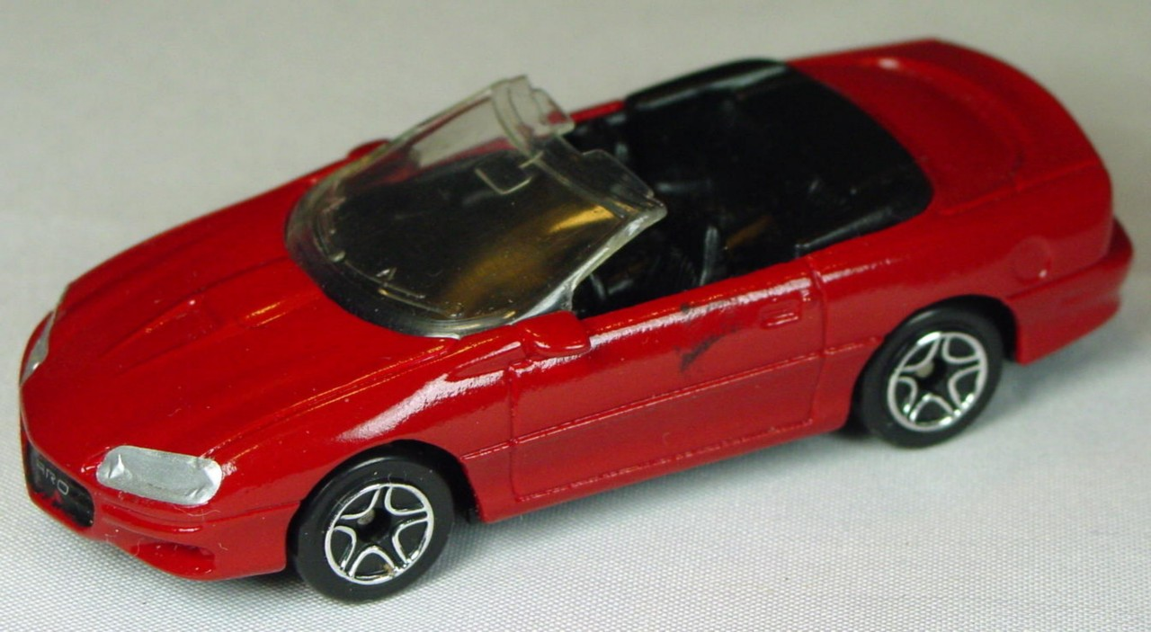 Pre-production 02 I 2 - Camaro convertible dark Red PAINTED HD LTS plastic made in China rivglue