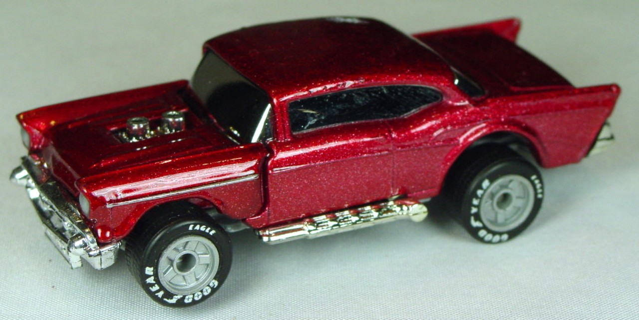 Pre-production 04 D 18 - 57 Chevy met Red silver str/flash/57 ONE SIDE made in China