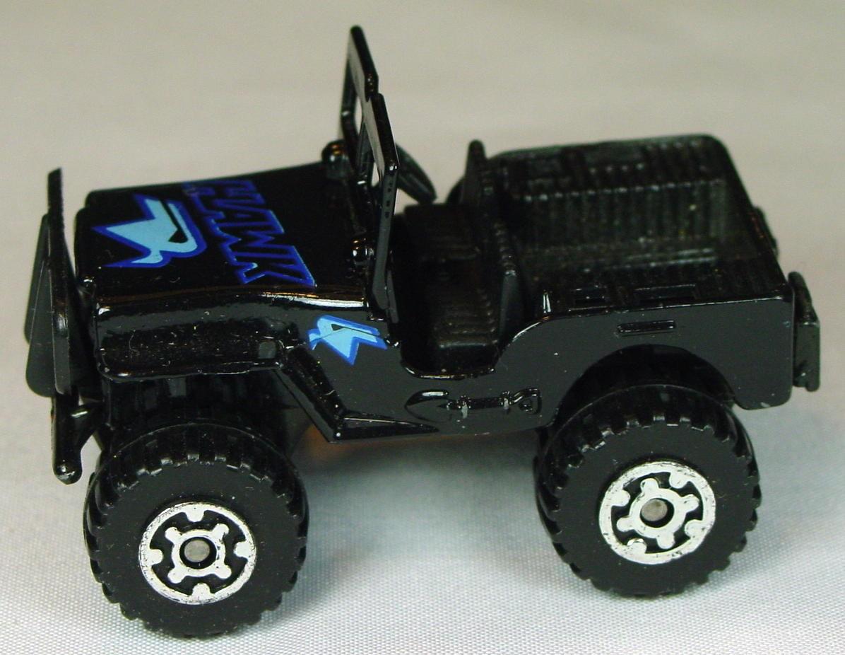 Pre-production 05 D - Jeep 4x4 Black black met base black seats hawk labels Made in Macau