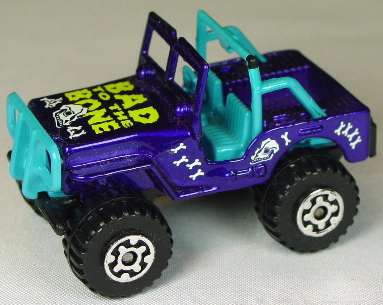 Pre-production 05 D 18 - Jeep 4x4 dark Purple Bad Bone STICKER RHD made in Thailand