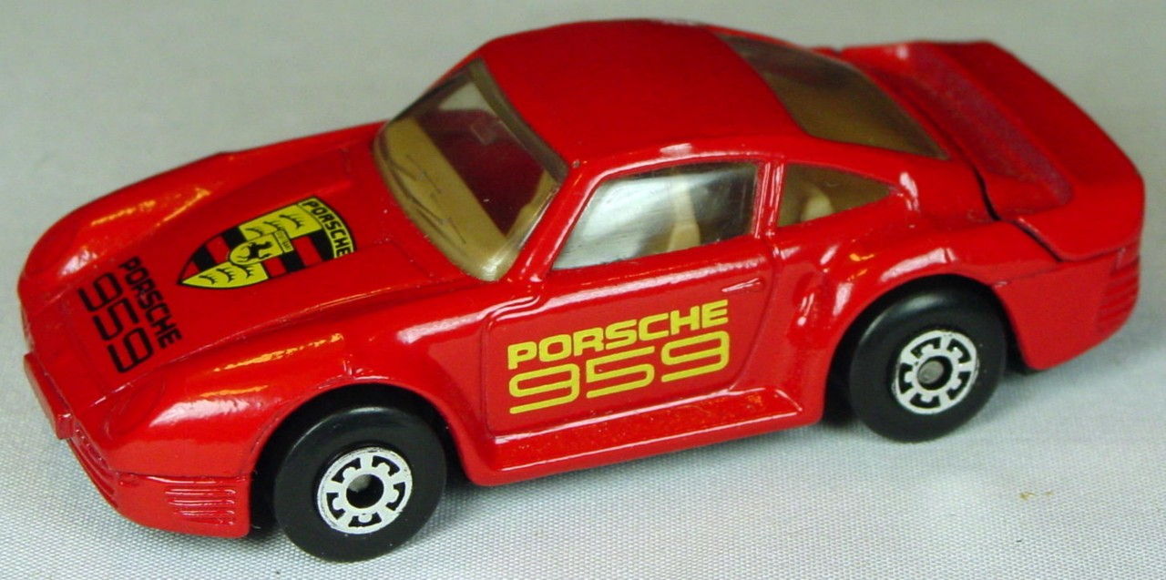 Pre-production 07 F - Porsche 959 Red tan interior Porsche 959 STICKER Made in Macau