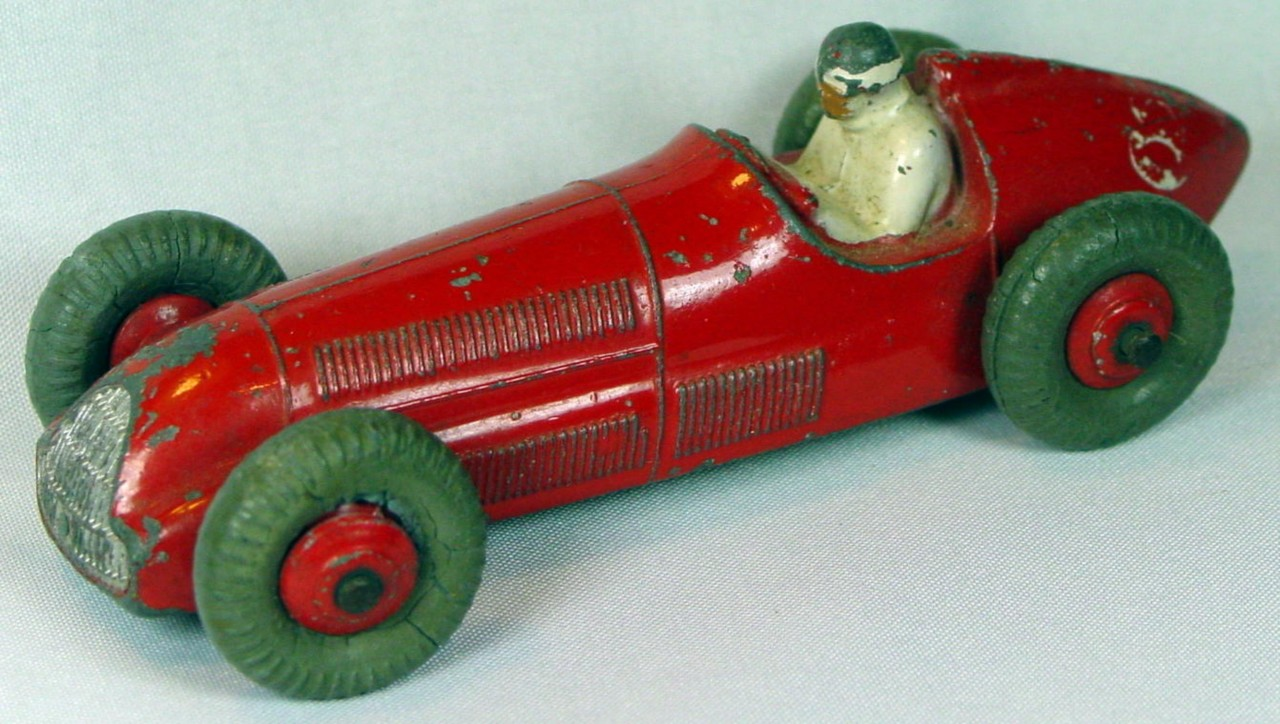 Dinky 23 F - Alfa Racer Red GPT, bent front axle