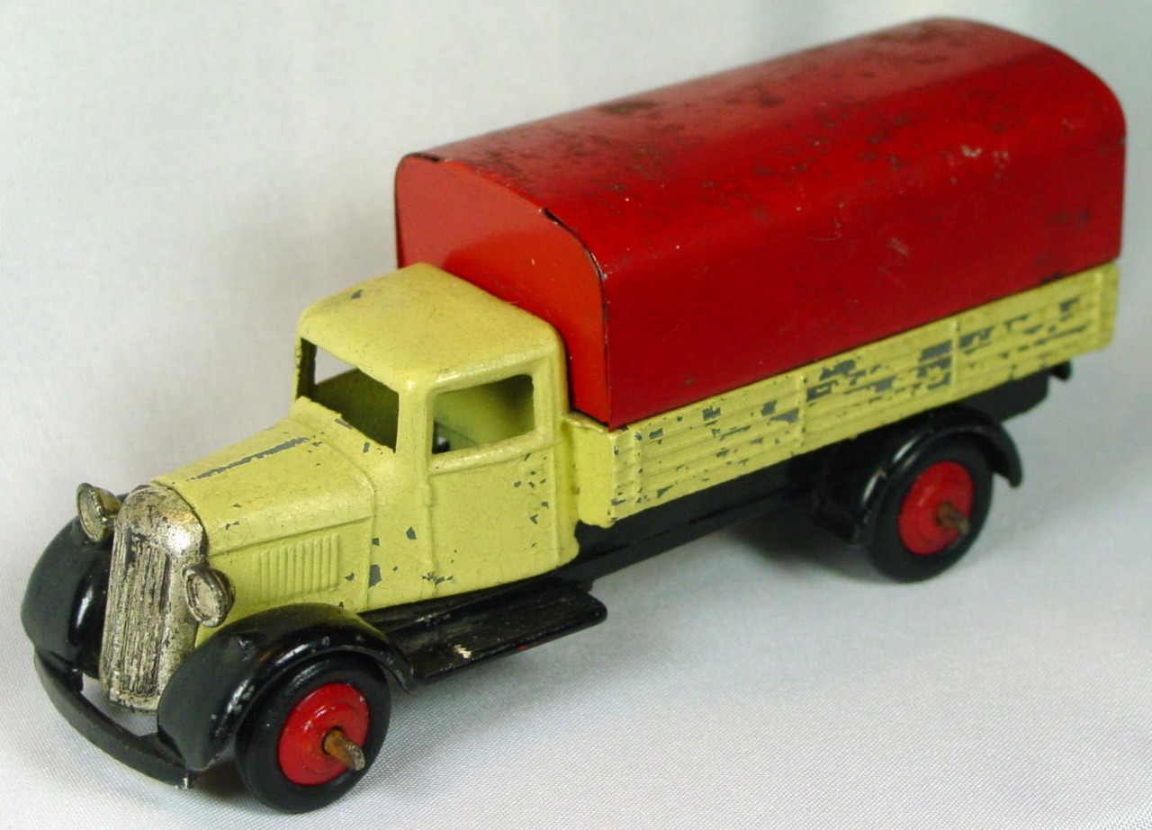 Dinky 25 B - Covered Wagon Cream/dark brown and red
