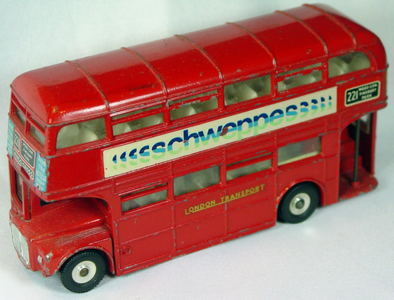 Dinky 289 - Routemaster Bus Schweppes Red