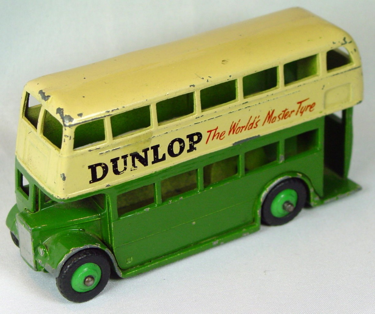 Dinky 290 - Double Decker Bus Green and Cream Dunlop
