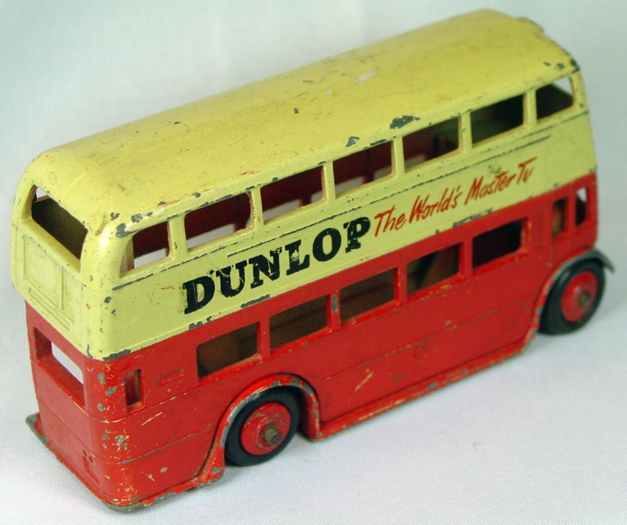 Dinky 290 - Double Decker Bus Red and Cream Dunlop