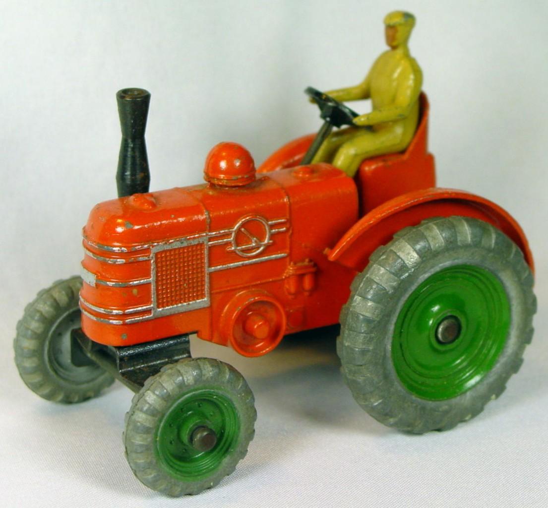Dinky 301 - Field Marshall Tractor Orange green hubs