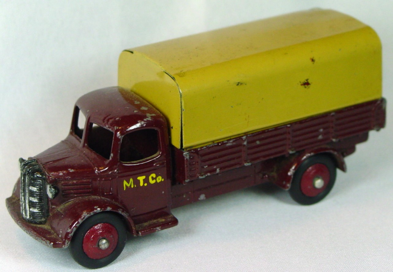 Dinky 30 S - (413) Austin Covered Truck Maroon and cream maroon hubs