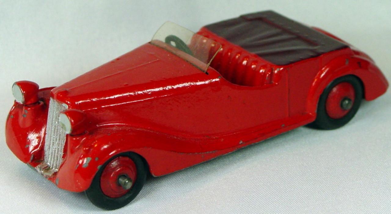 Dinky 38 B - Sunbeam Talbot Red maroon tonn red wheels