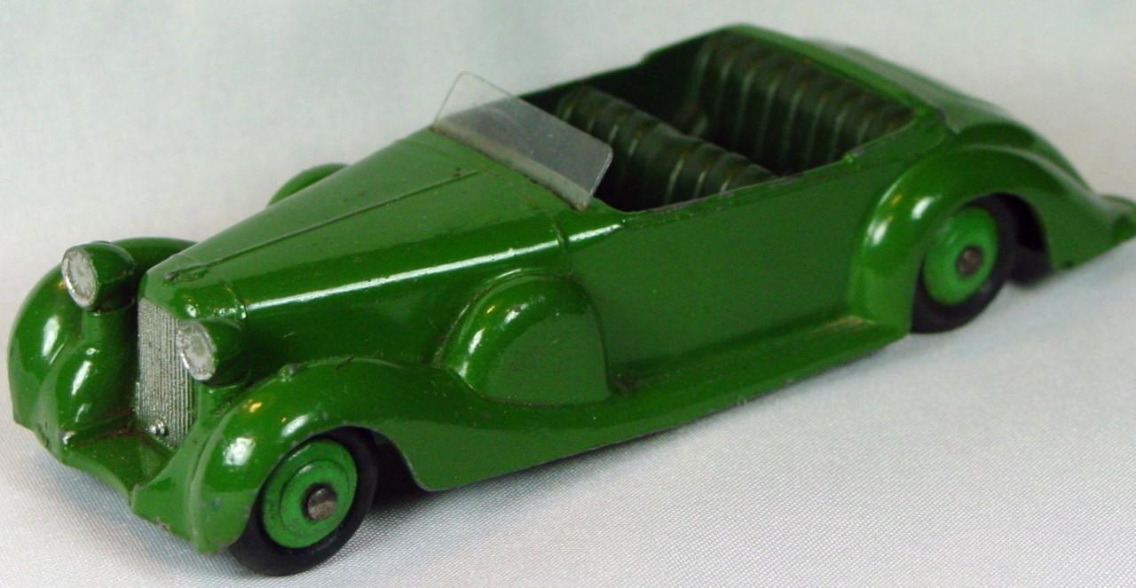 Dinky 38 C - Lagonda Green green interior green hubs